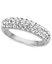 Kaleidoscope Sterling Silver Ring Crystal Band Ring With Swarovski Elements