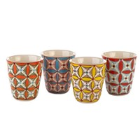 Pols Potten Set Of 4 'Hippy' Mugs