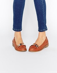 Miss Kg Nissa Bar Loafers Tan Synthetic