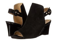 Adrienne Vittadini Rasi Black Kid Suede Women's Sandals
