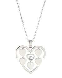 Chopard Happy Amore Floating Diamond Heart Pendant Necklace 0.17Tcw