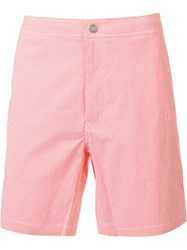 Onia 'Calder' Swim Shorts Pink Purple