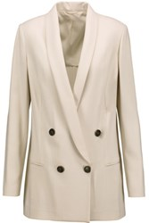 Brunello Cucinelli Wool Blend Blazer Off White
