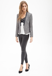 Forever 21 Faux Leather Trimmed Blazer