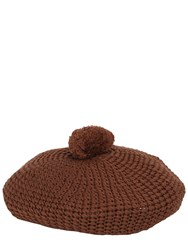 Gucci Handmade Knit Beret With Pompom