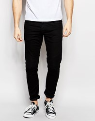 Jack And Jones Jack And Jones Slim Fit Jeans With Biker Detail And Stretch Black