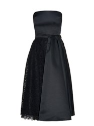 Rochas Strapless Satin And Lace Dress