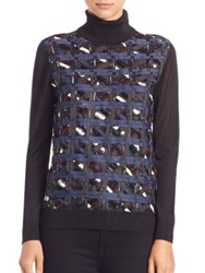 Raoul Embellished Turtleneck Sweater Black Multi
