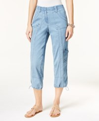 Styleandco. Style Co. Denim Cargo Pants Only At Macy's Light Indigo