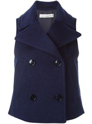 Golden Goose Deluxe Brand Double Breasted Gilet Blue