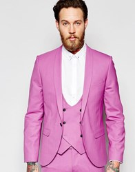 Noose And Monkey Suit Jacket With Shawl Lapel In Super Skinny Fit Pink