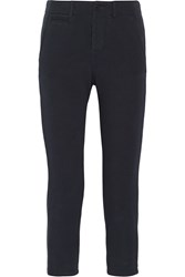 Nlst Cropped Cotton Jersey Slim Leg Pants Blue