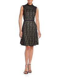 Vince Camuto Sleeveless Lace Flare Dress Black