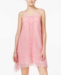 American Rag Lace Handkerchief Hem Trapeze Dress Only At Macy's Rose