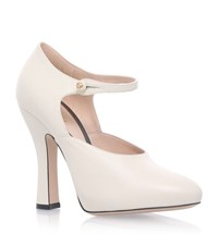 Gucci Lesley Leather Pumps 105 Female White
