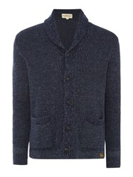 Denim And Supply Ralph Lauren Shawl Neck Button Front Ribbed Cardigan Blue