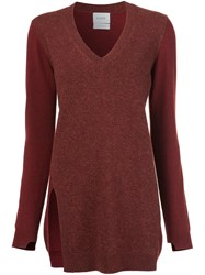 Barrie V Neck Jumper Red