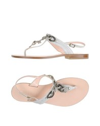 Tiffi Footwear Thong Sandals Women White