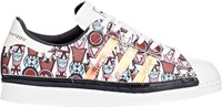 Adidas X Mary Katrantzou Badge Print Superstar 80S Sneakers Orange Siz