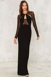 Mesh Me Up Maxi Dress Black