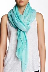 Lava Metallic Large Scarf Blue