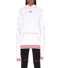 Hood By Air Angel Dust Cotton Jersey Hoody White