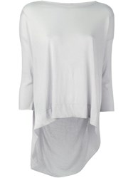 Raquel Allegra Contrast Panel Longsleeved T Shirt White