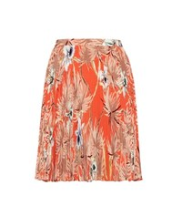 Valentino Printed Pleated Silk Miniskirt Multicoloured