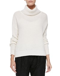 Joie Diona Chunky Knit Turtleneck Sweater Porcelain