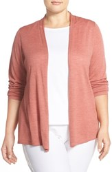 Plus Size Women's Eileen Fisher Lightweight Merino Wool Straight Cardigan