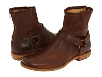 Frye Phillip Harness Cognac Vintage Leather Men's Pull On Boots Orange