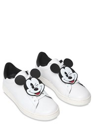 Moa Master Of Arts 10Mm Mickey Patch Leather Sneakers