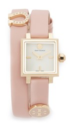 Tory Burch Saucy Watch Ivory Gold Peach Blossom