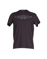Cooperativa Pescatori Posillipo Topwear T Shirts Men Dark Brown