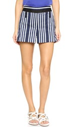 Rag And Bone Willow Shorts Navy White