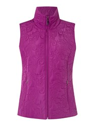 Tigi Paisley Quilted Gilet Pink