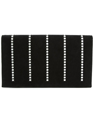 Emporio Armani Crystal Stud Detail Clutch Black
