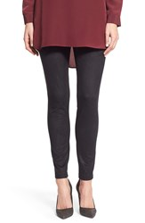 Two By Vince Camuto Faux Suede And Ponte Leggings Rich Black