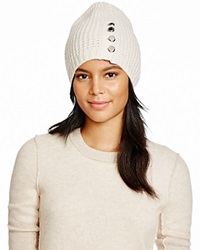 Michael Kors Waffle Stitch Slouchy Hat 100 Bloomingdale's Exclusive Cream