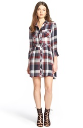 Sam Edelman 'Tessie' Plaid Shirtdress Blue Multi