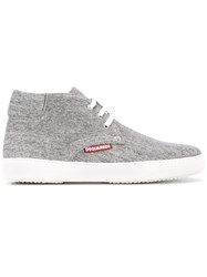 Dsquared2 Padded Ankle Hi Top Sneakers Grey
