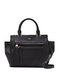 Vince Camuto Ayla Colorblock Leather Satchel Black