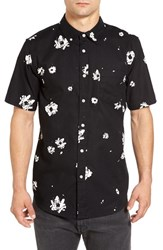 Obey Men's 'Oh Daisy' Print Short Sleeve Woven Shirt