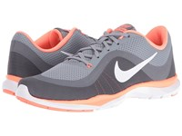 Nike Flex Trainer 6 Stealth White Bright Mango Clear Grey Women's Cross Training Shoes Stealth White Bright Mango Clear Grey