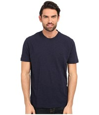 Lacoste Short Sleeve Vintage Washed Tee Navy Blue Dyed Men's Clothing