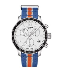 Tissot New York Knicks Quickster Stainless Steel Chronograph Watch Multi Colored