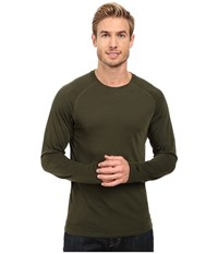 Royal Robbins Go Everywhere Long Sleeve Merino Crew Dark Olive Men's Clothing