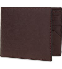 Canali Saffiano Leather Wallet Burgundy