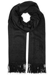 Johnstons Of Elgin Black Cashmere Scarf