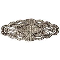 Susan Caplan Vintage 1930S Sterling Silver Marcasite Duette Broach Silver